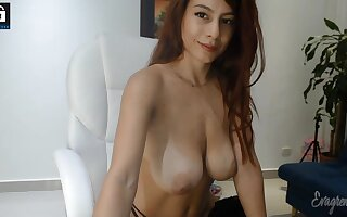 Big bowels redhead babe webcam show