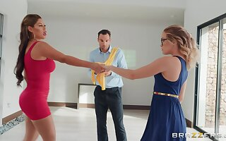 Guy cheats her high horse lady with zingy dance instructor Bridgette B.