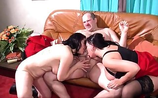 Mature and busty amateur get hitched blowjob and anal creampie