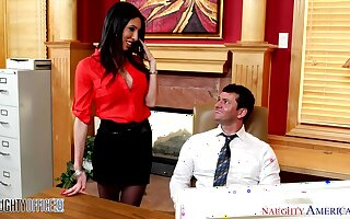 Sexy and lustful accountant Dava Fox seduces one be proper of say no to co-workers