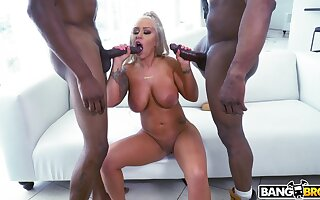 MILF gets blacked in merciless threesome