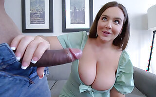 Huge-Boobed stepmother put aside step-sonny poke the brush moist cooter