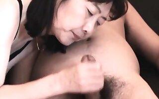 Chie loves sucking cock, 50's matured tutor teacher