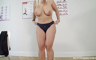 That MILF has lovely suckers coupled with Chun Li thighs coupled with she loves getting naked